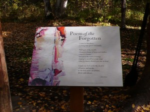 Poem of the Forgotten, installation, 2013